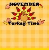 November Thanksgiving Turkey SMART Board Calendar & Common Core Math Activities