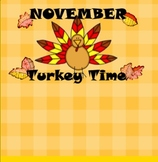November Thanksgiving Turkey SMART Board Calendar & Common