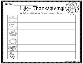November: Thanksgiving Write the Room + 2 Bonus Activites