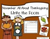 November Thanksgiving Write the Room + 2 Bonus Activites
