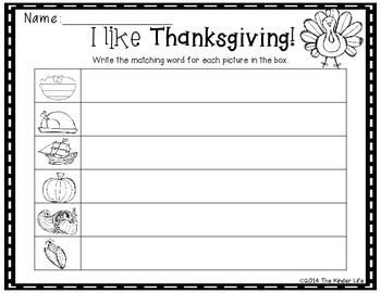 November Thanksgiving Write the Room + 2 Bonus Activites
