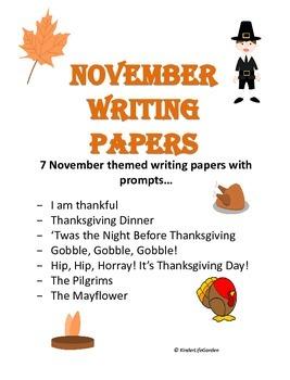 November (Thanksgiving) Writing