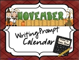 November & Thanksgiving Writing Prompt Calendar ~ {Common Core Standards}