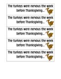 November Thanksgiving Writing Prompts