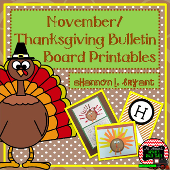November, Thanksgiving, and Turkey Bulletin Board and Writ