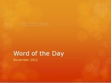 "November ""Thanksgiving"" themed Word of the Day"