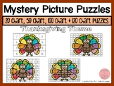 Thanksgiving 20, 50, 100 & 120 Chart Mystery Picture Puzzles