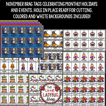 November Brag Tags [Thanksgiving, Veterans Day, and More]
