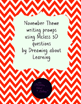 November Theme Writing Prompts