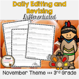 November Themed Differentiated Editing & Revising Daily Practice