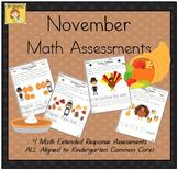 November-Themed Kindergarten Math Extended Response Bundle