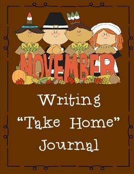 November Themed Take Home and Classroom Writing Journal
