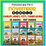 November Curriculum 15 Themes Bundle - Families, Homes, Pe