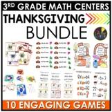 November Third Grade Math Centers BUNDLE