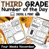 Place Value November Number of the Day Third Grade Number Sense