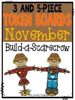 November Token Boards: Build-a-Scarecrow