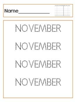 November Tracing