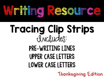 November Tracing Strips