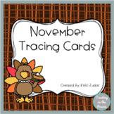 November Tracing Task Cards
