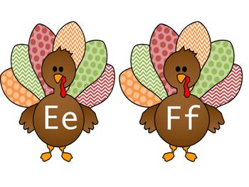 November Turkey A-Z Letter Tags