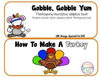 November Turkey Interactive Adaptive Books (set of 2)