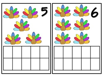 November Turkey Number Activity Packet