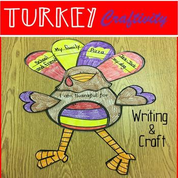 November Thanksgiving Activities Turkey Writing Craftivity