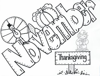 November Turkey picture to color