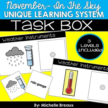 November Unique Learning System Task Box- Discover Weather Instruments