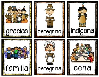 November Vocabulary - Spanish