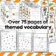 November Vocabulary Unit for Special Education