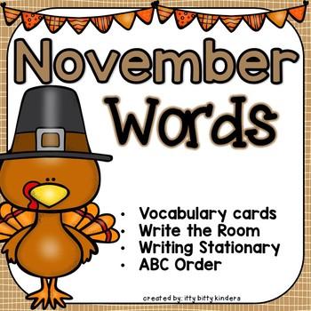 November Vocabulary Words