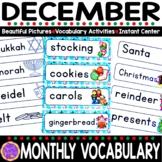 December Vocabulary   Holidays Around the World Words   Ch