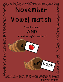 November Vowel Match