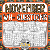 November WH- Question Dauber Pages