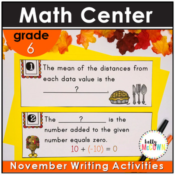 November WRITE THE ROOM with Math - 6th Grade