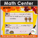 November WRITE THE ROOM with Math - 8th Grade