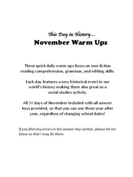 November Warm Ups