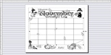 November Weather Watcher's Coloring Calendar