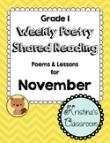 November Weekly Poetry and Shared Reading