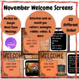 November Welcome Screen (Thanksgiving Theme)