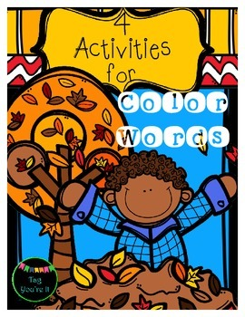 November, What Do You See? Color Word Activities for K - 1st