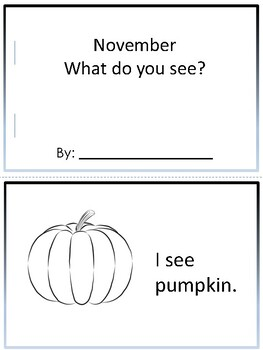 November- What do you see?