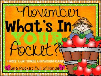 November What's In Your Pocket {Pocket Chart and Emergent Readers}