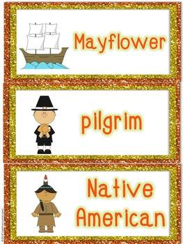 November Word Cards