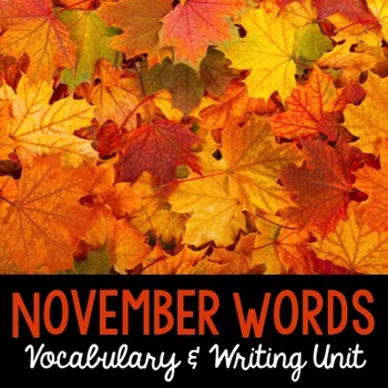 November Word Cards and Word Walls {in English and Spanish}