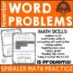 November Word Problem Practice- First Grade