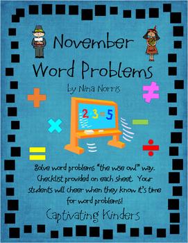 November Word Problems