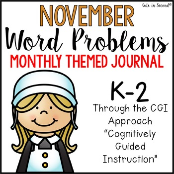 November Word Problems Journal Booklet