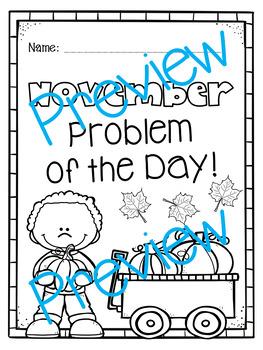 November Word Problems Pack & Math Interactive Notebook Activities!